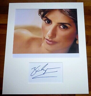 PENELOPE CRUZ-Hand Signed Card is Presented With A Photo-Mounted & Matted,COA