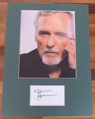 DENNIS HOPPER-Hand Signed Card is Presented With A Photo-Mounted & Matted,COA