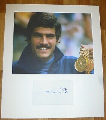 MARK SPITZ-Hand Signed Card is Presented With A Photo-Mounted,Matted,COA