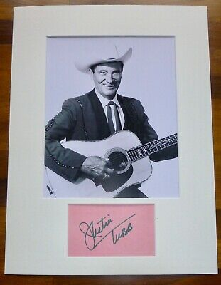 JUSTIN TUBB-A Hand Signed Card is Presented With A Photo-Mounted & Matted,COA