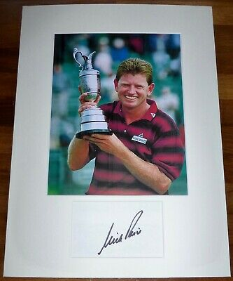 NICK PRICE-A Hand Signed Card is Presented With A Photo-Mounted & Matted,COA