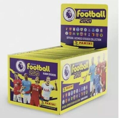 Full Set of Panini FOOTBALL 2020 Premier League Stickers, 100 Packs. Without Box
