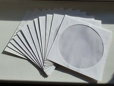 12 x Paper CD DVD Covers Sleeves Case Wallet Envelopes with Window