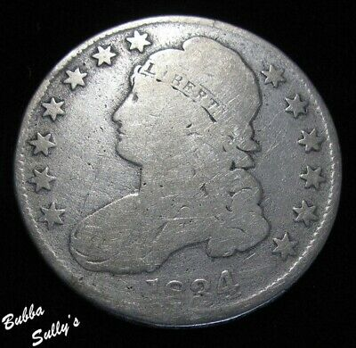 1834 Capped Bust Half Dollar <> G to VG Details