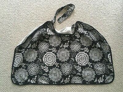 Baby Breastfeeding Cover Wrap Black White Floral Cotton Spandex