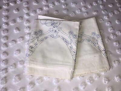 Vintage Pillowcase Pair to Embroidery Crochet Southern Belle - Lee Ward Mills