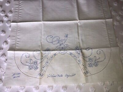 Vintage Stamped For Embroidery Table Runner Topper Southern Belle