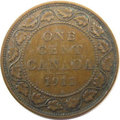 1911 - Canada - One Cent Coin - Free Shipping !!! - #636
