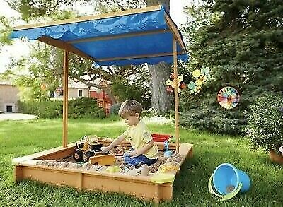 Playtive Junior Wooden Sandpit With Roof And Sand Set Box Both New Boxed Unopen