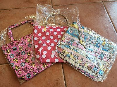 Small tote bags NEW in plastic with inner pocket Butterfly & Baby