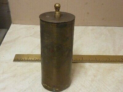 GOOD ANTIQUE BRASS CASED  2bs 13ozs  CLOCK WEIGHT -(1W)- FREE UK POST