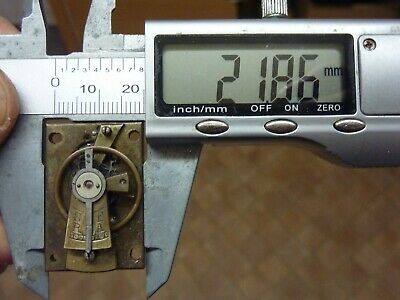 Old French Clock ?  Platform Escapement--Spares Or Repair (F) Free Post