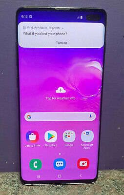 Samsung Galaxy S10 Plus 128Gb Mobile Unlocked Working
