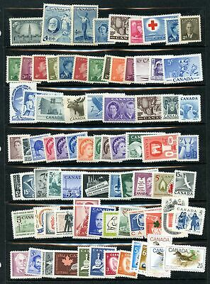 Lot 83012  Canada Collection Of 80 Mint Nh Canadian Stamps