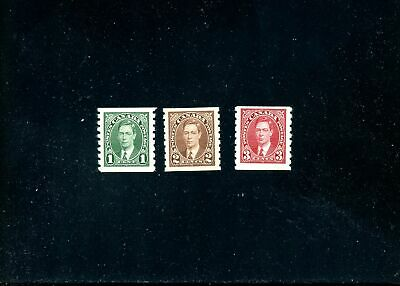 Lot 82717 Mint H 228 229  230 Coils King George V Pictorial Issue Canada