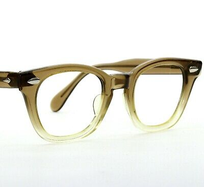 Vintage American Optical Ao Mid Century 42-20 Small Eyeglass Frames Two Tone