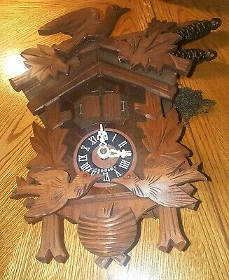 Vintage Schneider Musical Cuckoo Clock Made in Germany REPAIR Animated WORKS