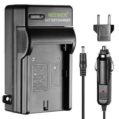 Neewer AC Wall Charger and In-Car Adapter for Sony F550 F750 F960 Battery