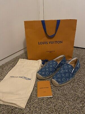 Authentic Louis Vuitton Espadrilles Denim Monogram