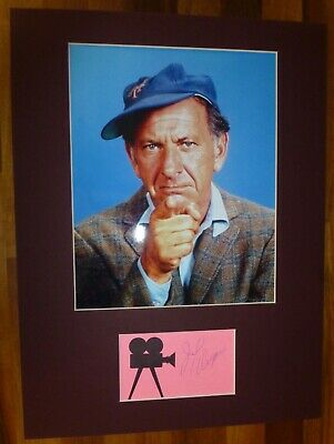 JACK KLUGMAN-Hand Signed Card is Presented With A Photo-Mounted & Matted,COA