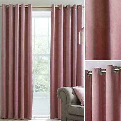 Blush Eyelet Curtains Pink Leopard Print Ready Made Lined Ring Top Curtain Pairs