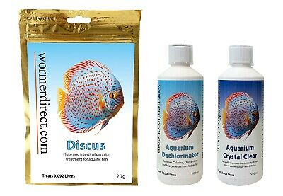 20g Discus Wormer Plus Water Conditioner & Crystal Clear 500ml