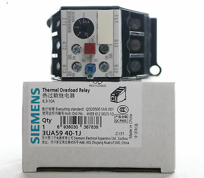 1PC New Siemens Thermal overload relay 3UA5940-1J 6.3-10A