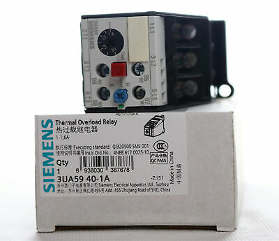 1PC NEW Siemens Thermal overload relay 3UA5940-1A 3UA5 940-1A 1-1.6A