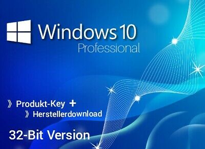 MS Microsoft Windows 10 Professional 32-Bit Produkt-Key +  Herstellerdownload ☆☆