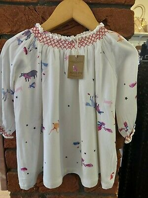 Joules Beautiful Baby Girls Long Sleeved Patterned Dress Age 3-6 Months Bnwts