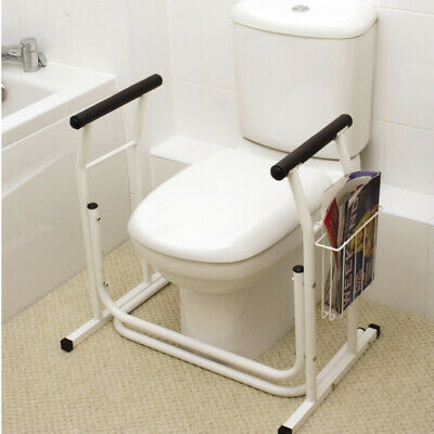 Deluxe Toilet Safety Support XLLavatory Assist Mobility Aid & Safety Rail Grab