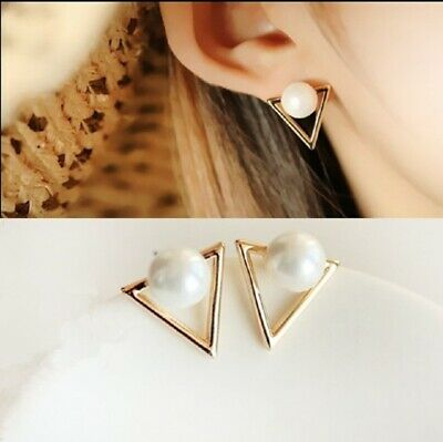 Street Fashion Elegant Gold Silver Circle Crystal Stud Charm Earrings Jewelry UK