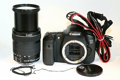 Canon 60D EOS EF-S 18-135MM STM IS IMAGE STABILIZER LENS DSLR CAMERA 31K