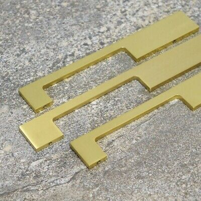 Cabinet Wardrobe Pull Handles Solid Brass Gold Door And Drawer - Different Sizes