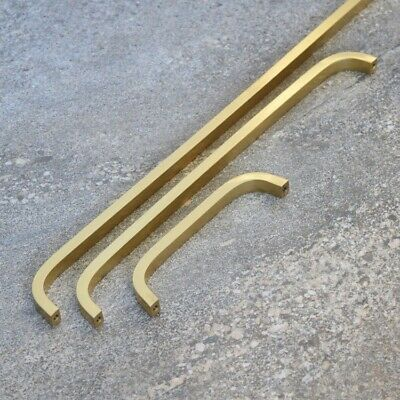 Kitchen Bar Cabinet Handle Solid Brass Gold Door And Drawer pulls Different size