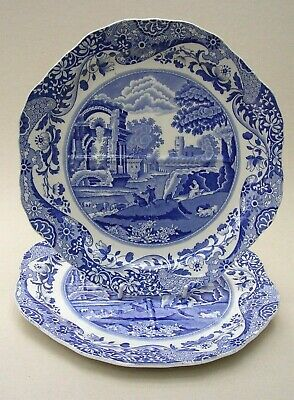 Copeland Spode's Italian  - 2 ' Divided ' Cake Or Bread And Butter Plates