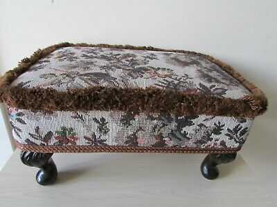 Sherborne Upholstery Ltd (Uk) - Tapestry Footstool - Excellent Condition.