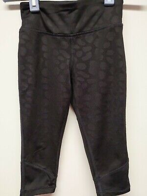 Girls danskin size xs 4-5 black workout leggings Excellent Condition