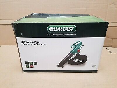 Qualcast 2800w Garden Leaf Blower and Vacuum Grass Tidy Corded Electric DIY Tool