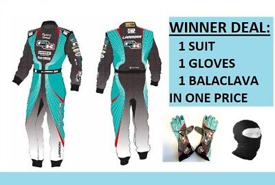 Formula K GO KART RACE SUIT CIK/FIA LEVEL II APPROVED KARTING SUIT and GLOVES