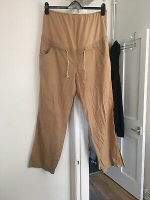 Blooming Marvellous Size Uk 14 Beige Maternity Trousers.  (a12)