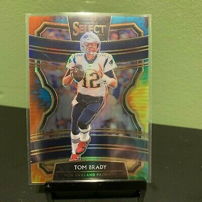 Tom Brady 2019 Select Tie Dye Prizm # /25 New England Patriots Parallel Ssp