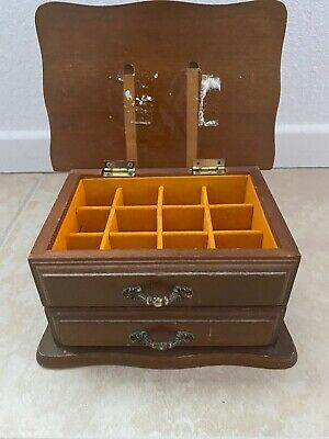 Centurion Louisville Los Angels Wooden Jewelry Box with Drawer Made in Taiwan