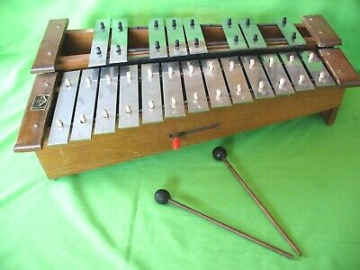 Old vintage Granton Hohner 2 stage Xylophone with damper and 2 strikers