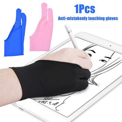 US_ Two Finger Anti-fouling Glove Drawing Pen Graphic Digital Tablet Pad For Art