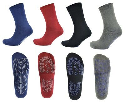 Mens Thermal Lounge Slipper Socks With Rubber Grip Non Slip Winter Warm Cosy