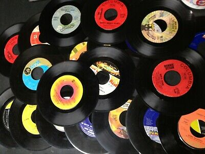"""( Lot Of 100 ) 7"""" Vinyl Records Various Artists & Genres"""