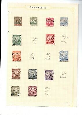 2 very nice Barbados and Cayman Isle pages