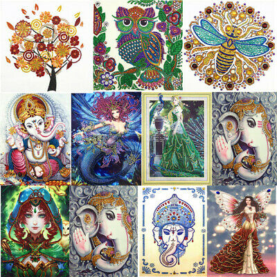 H3E# 8pcs DIY Special Shaped Diamond Painting Embroidery Christmas Card Gift