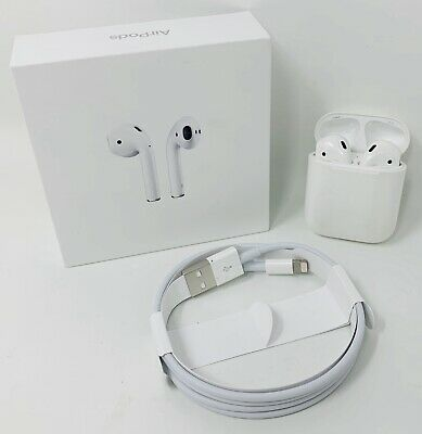 2019 Apple MV7N2AM/A AirPods Gen 2 w/Wireless Charging Case - A2032/A2031/A1602